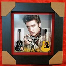 Elvis Presley Two Miniature Framed Guitars