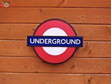 LONDON UNDERGROUND SIGN LIGHT BOX. LED Battery / USB Power. 15 Station Inserts!