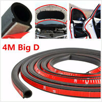 4M Sloping D-Shaped Car Door Seal Strip Rubber Trunk Hood Edge Insulation Trim
