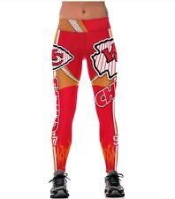 Kansas City Chiefs Womens Leggings S/M Football Athletic Yoga Stretchy NWT