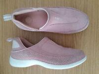 Damen Schuhe Loafers Slipper LandsEnd Gr 39 rosa Leder Top