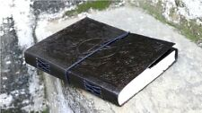 Handmade Leather Journal Black Pentacle Star Diary Sketchbook Gift Notebook 9x7