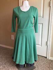 Matila Jane Green Pastures Green Church Brunch Dress with Blue Bottom Trim XS