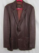 Beau-Geste Blazer Sport Coat Jacket Men's Sz 40 Leather Maroon 2 Button Lined