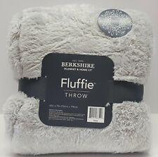 Berkshire Blanket Fluffie Throw 60x70 Blanket:LIGHT GRAY