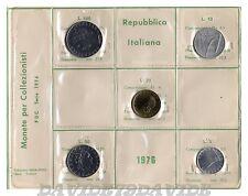 REPUBBLICA ITALIANA - ITALIA - SERIE COMPLETA MONETE IN LIRE ANNO 1976 - FDC