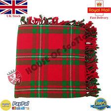 Hs Écossais Kilt Mouche Plaid Mcgregor Acrylique Laine 122cm X Purled Frange