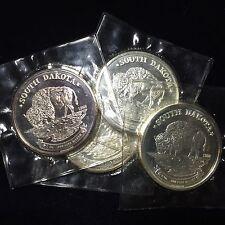 South Dakota 1 troy oz .999 Fine Silver Buffalo/Bison 1988