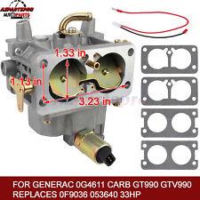 Fit Generac 0G4611 Carburetor GT990 GTV990, Replaces 0F9036 (PWY) 053640 33HP