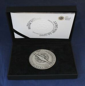 2011 Royal Mint 155g Silver 65mm Medal in Case with COA