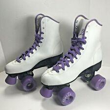 New listing SENECA Vintage Sports Quad Roller Skates 7040 Women's Sz 8 White 90s
