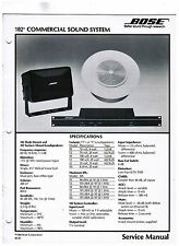 Original BOSE Commercial sound system  service manual