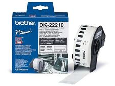 Brother DK Labels DK-22210 (29mm x 30.48m) Continuous Paper Labelling Tape