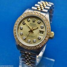 Rolex Women's Stainless Steel Strap Analog Wristwatches
