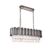 Modern Luxury Crystal Chandelier Oval Pendant Lights Ceiling Raindrop Light
