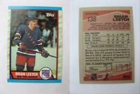 1989-90 Topps #136 Leetch Brian  RC Rookie  rangers