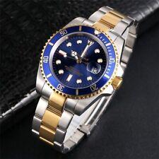 Men's Submariner Homage Wrist Watch Rotating Bezel Quartz Date Wristwatch Steel
