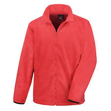 Result Mens Outdoor Fleece Layering Jacket Flame Red R220M UK L