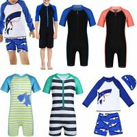 Baby Kids Girls Boys Sun Protective Swimwear Rash Guard Costume Bathing Suit Set