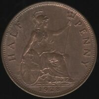 1928 George V Halfpenny | British Coins | Pennies2Pounds