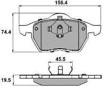 Ford Galaxy 1.9 Tdi 2.0 2.3 2.8 MPV 95-00 Front Brake Pads