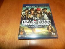 PIRATES OF THE CARIBBEAN ON STRANGER TIDES LIMITED 3D EDITION BLU-RAY DVD NEW