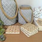 Set of 4 Ceramic Coasters/Rustic Patterned Design/Drink Coaster Set/Bar/Kitchen