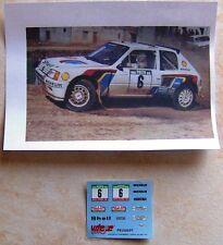 ADDITIF PEUGEOT 205 TURBO 16 EVO 1 1° RALLYE PORTUGAL 1985 TIMO SALONEN