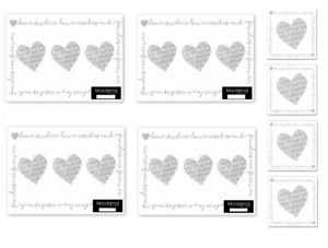 Place Mats, Coasters Grey Home Heart Design Table Wipe Clean Saver +More Designs