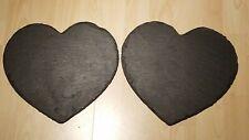 "Heart Shaped Slate Serving Platter,(12"") x 2"