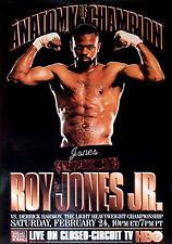 Original Vintage Roy Jones Jr. vs. Derrick Harmon Boxing Fight Poster