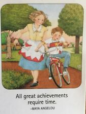 Mary Engelbreit Artwork-All Great Achievements-Handmade Magnets