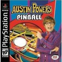 Austin Powers Pinball Playstation Game PS1 Used Complete