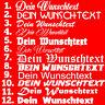 1x WUNSCHTEXT 20cm Breit Aufkleber Auto Domain Cartattor Beschriftung Schriftzug