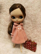 Blythe Outfit Clothing Sky PINK Flannelet Jacket Coat
