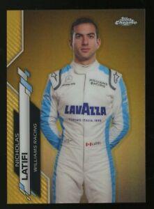 2020 Topps Chrome Gold Refractor Formula 1 F1 Racing #20 Nicholas Latifi 33/50