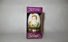 "Anri 1982 Annual Egg Juan Ferrandiz 2"" Carved Toriart Sculpture W/ Base - Miib"