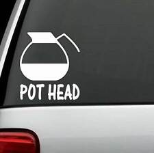 C1103 Pot Head Coffee Decal Kitchen Brew Station Cafe Bistro