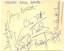 Kenny Ball and his Jazzmen signed autograph album page 1960s jazz bandleader
