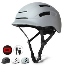Glaf Ultralight Adult Bike Safety Helmet Cycling Bicycle USB Tail Light Gray