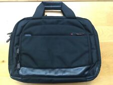 Samsonite Black label expandable tote case in black with leather nappa trims