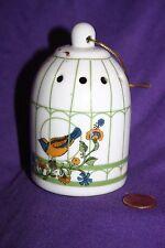 Vintage ceramic birds in cage pomander