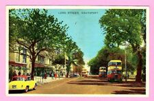 ETW Dennis Bus Postcard ~ Lord Street: Southport - Leyland Titans - Posted 1960