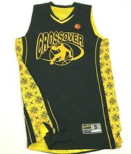 Crossover Basketball Jersey Men's Size Small S Black Yellow Tank Top Sleeveless