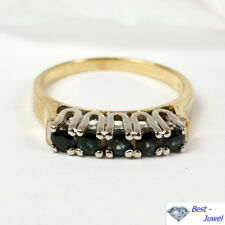 Band-Ring in 585 Gold mit Safir