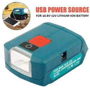 Cordless Power Source USB Charger Adapter for Makita 12V Li-ion Battery