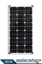 SOLARMODUL 80W-12V MONOKRISTALLIN SOLARPANEL SOLARZELLE CARAVEN CAMPING NEU