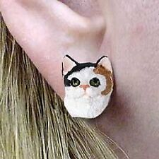 Conversation Concepts Calico Shorthaired Earrings Post