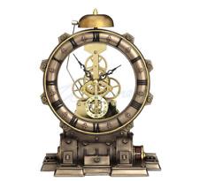 Steampunk Generator Striking Mantel Clock Futuristic Sculpture Figure HOME DECOR