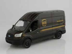 UPS Mail Delivery Van 2019 Ford Transit 1:64 Scale Diecast Model Truck